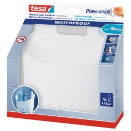 tesa Powerstrips Aufbewahrungs-Korb WATERPROOF Regal Zoom