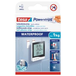 tesa Powerstrips Klebepads SMALL WATERPROOF, weiß