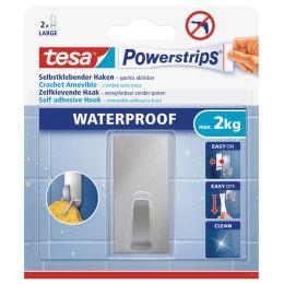 tesa Powerstrips Haken WATERPROOF Large Metall, rechteckig