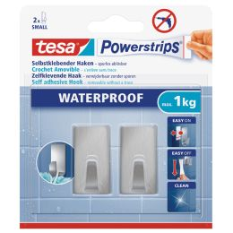 tesa Powerstrips Haken WATERPROOF Small Metall, rechteckig