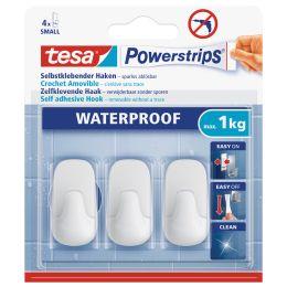 tesa Powerstrips Haken WATERPROOF Small Plastik, weiá