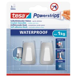 tesa Powerstrips Haken WATERPROOF Small Metall/Plastik
