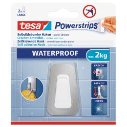 tesa Powerstrips Haken WATERPROOF Large Metall/Plastik