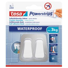 tesa Powerstrips Duo-Haken WATERPROOF Metall/Plastik