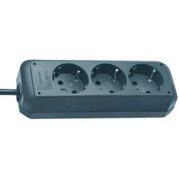 brennenstuhl Steckdosenleiste Eco-Line, 3-fach, schwarz