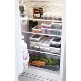 GastroMax Lunchbox, 1,0 Liter, transparent/weiß