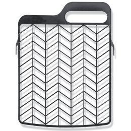 WESTEX Abstreifgitter Kunststoff, 180 x 220 mm, schwarz