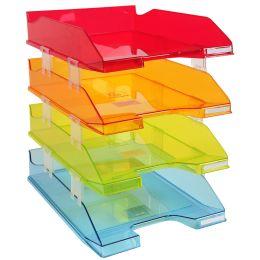 EXACOMPTA Briefablagen-Set COMBO MIDI, DIN A4, farbig
