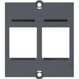 BACHMANN Modul für 2 Keystone Datenanschlüsse, schwarz
