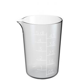 GastroMax Messbecher, 0,5 Liter, transparent