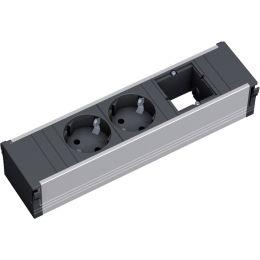 BACHMANN Steckdoseneinheit CONI, 3-fach, Aluminium