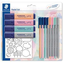 STAEDTLER Schreibset pastel, mit 50 Sticker zum Ausmalen