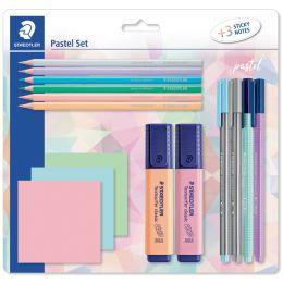 STAEDTLER Schreibset pastel, mit 3 Haftnotizblöcken