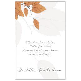 SUSY CARD Trauerkarte Blätter