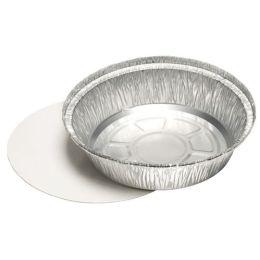 PAPSTAR Aluminium-Schale rund, mit Deckel, 1.000 ml