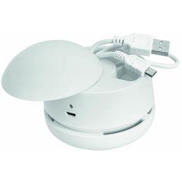 WEDO Mini-Tischstaubsauger W2D2, wiederaufladbar, weiß
