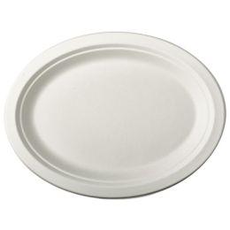 PAPSTAR Zuckerrohr-Teller pure, oval, 260 x 200 mm, 50er