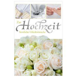 SUSY CARD Hochzeitskarte weiße Rosen