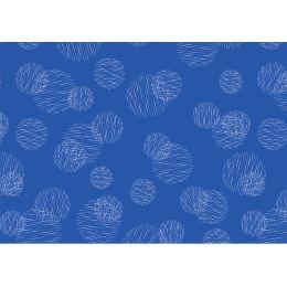 SUSY CARD Geschenkpapier Scribbled Circles blau, auf Rolle