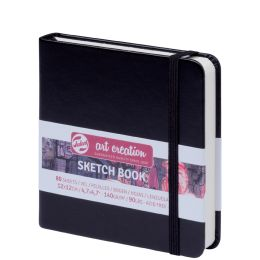 ROYAL TALENS Art Creation Skizzenbuch, 120 x 120 mm, schwarz