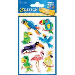 AVERY Zweckform ZDesign KIDS Glitter-Sticker Vögel
