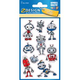 AVERY Zweckform ZDesign KIDS Glitter-Sticker Roboter