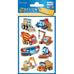 AVERY Zweckform ZDesign KIDS Glitter-Sticker Baumaschinen