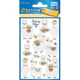 AVERY Zweckform ZDesign KIDS Glitter-Sticker Alpaka