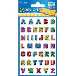 AVERY Zweckform ZDesign KIDS Glitter-Sticker Buchstaben