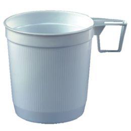 STARPAK Kunststoff-Kaffeetassen, 0,25 l, weiß, 40er