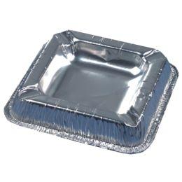 PAPSTAR Aluminium-Aschenbecher, quadratisch, 50er