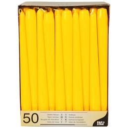 PAPSTAR Leuchterkerzen, 22 mm, gelb, 50er Pack