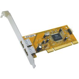 EXSYS USB 2.0 PCI Karte, 32 Bit mit VIA Chipsatz, 2 Port