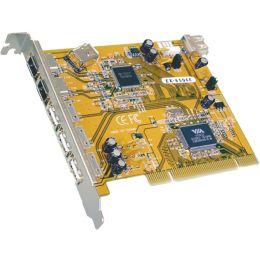 EXSYS FireWire 1394a 2+1 Port + USB 2.0 3+1 Port PCI Karte