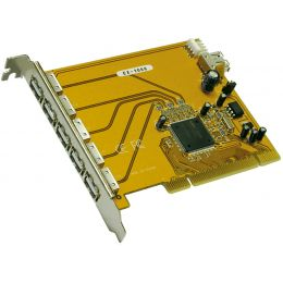 EXSYS USB 2.0 PCI Karte, 5 + 1 Port, 32 Bit, NEC Chipsatz