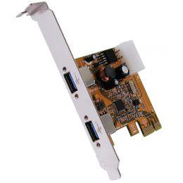 EXSYS USB 3.0 PCI-Express Karte, LowProfile, 2 Port