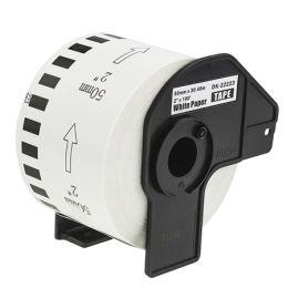 rillstab Endlos-Etiketten Papier, 50 mm x 30,48 m, weiß