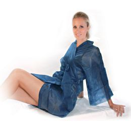HYGOSTAR Einweg-Kimono, aus PP-Vlies, Einheitsgröße, blau
