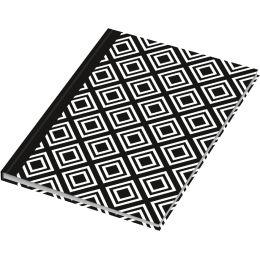 RNK Verlag Notizbuch Black & White Rhombus, DIN A5, dotted