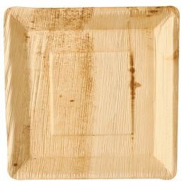 PAPSTAR Palmblatt-Teller pure, eckig, 250 x 250 mm, 25er