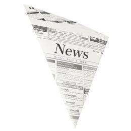 PAPSTAR Spitztüte Newsprint, 270 x 190 x 190 mm