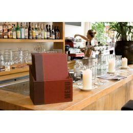 Securit Speisekarten-Mappe TRENDY, A4, 20er Box, schwarz