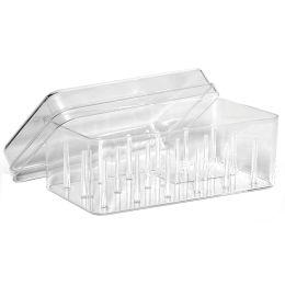 Gütermann Nähfaden-Box, für 18 Spulen, transparent