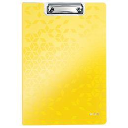 LEITZ Klemmbrett-Mappe WOW, DIN A4, Polyfoam, gelb-metallic