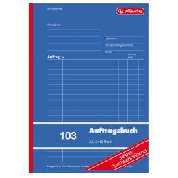 herlitz Formularbuch Auftrag 103, DIN A5, 3 x 40 Blatt