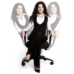 Topstar Bürodrehstuhl Lady Sitness Deluxe, schwarz/blau