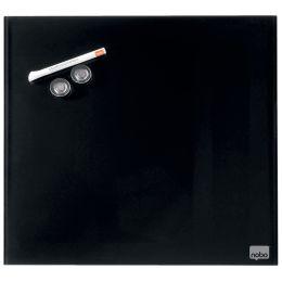 nobo Glas-Magnettafel, (B)450 x (H)450 mm, schwarz