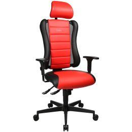 Topstar Bürodrehstuhl Sitness RS, schwarz / rot