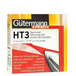 Gütermann Saumvlies HT3, 30 mm x 10 m, weiß