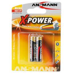 ANSMANN Alkaline Batterie X-Power, Micro AAA, 2er Blister
